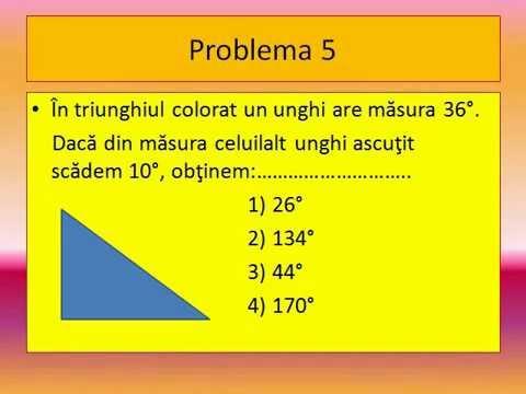 test geometrie clasa a vi a youtube