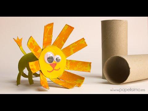 Len Manualidades con rollos papel higinico  YouTube