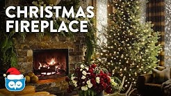 COZY Christmas Living Room Fireplace:  Christmas Tree, Crackling Fire, & Falling Snow Ambience