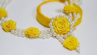 Home Made Wedding Necklace | How to Make Necklace at Home | Haldi Jewellery Making