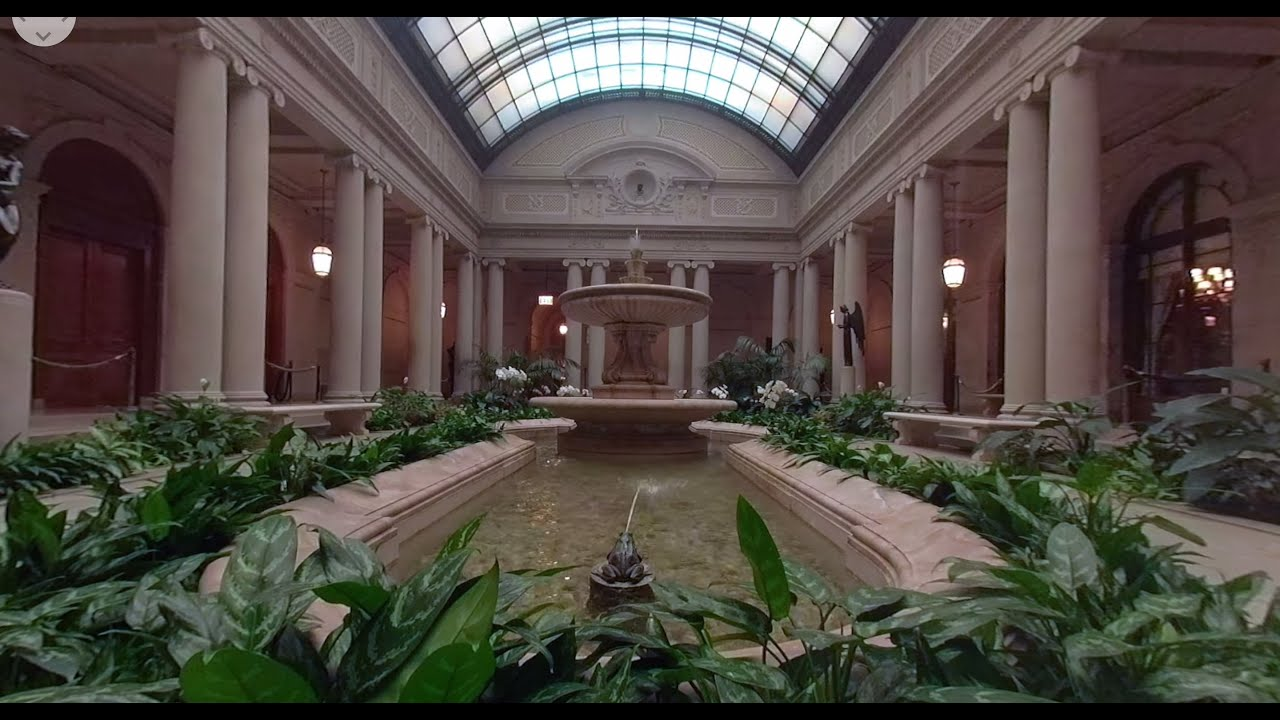 View of the Garden Court of The Frick Collection (360° Video)