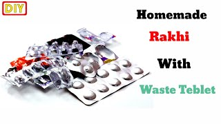 Easy to make Rakhi at home /DIY Rakhi /how to make Rakhi at home/homemade Rakhi/Rakhi making easy