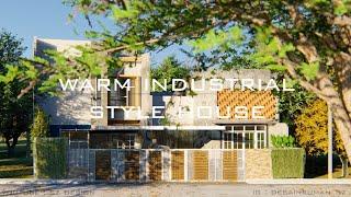 Desain Rumah Gaya Industrial Minimalis Modern Untuk Kaum Urban (Eksterior)