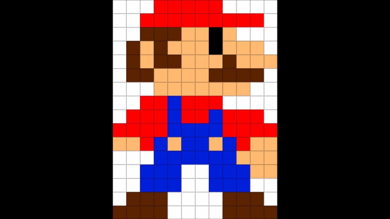 Como Dibujar A Mario Bros Pixel Por Pixel Pixel Art