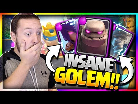 INSANE NEW GOLEM DECK!! Golem Witch = OP!! Ladder + Challenge Strategy - Clash Royale