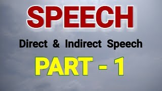 English grammar - Direct Speech &  Indirect Speech