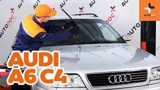 Montavimo gale ir priekyje Valytuvo gumelė AUDI A6 (4A, C4): nemokamas video