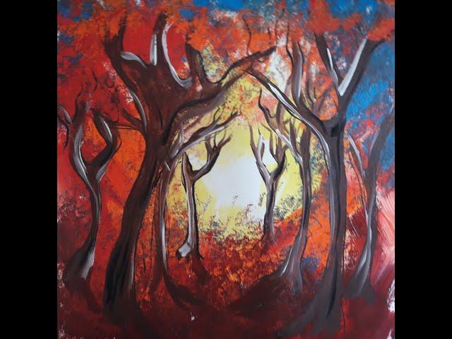 Elke malt - Goldener Herbstwald für Kinder
