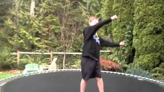How to do a Cork 720 on a trampoline