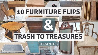 MUST SEE | 10 Thrifted and Trash To Treasure Furniture Makeovers Episode 4