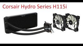 corsair hydro series h115i extreme performance liquid cpu cooler unboxing