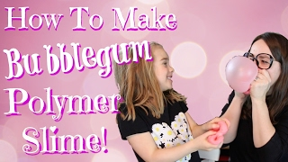 How to Make Bubble Gum Slime!  ( What is a Polymer and a Monomer?)