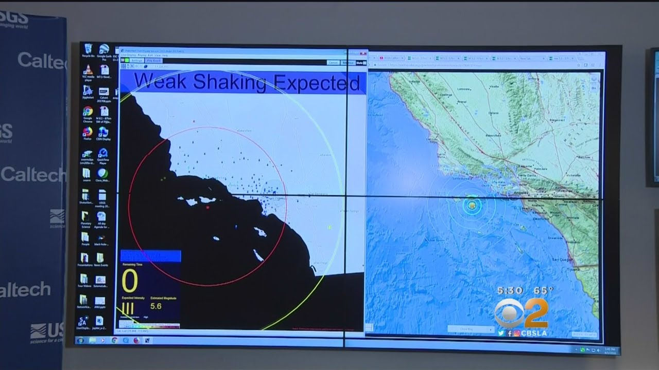 Caltech S Early Warning System Set Off By 5 3 Earthquake Off Coast