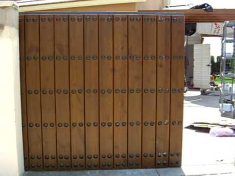 Puerta autom tica corredera madera youtube - Puertas correderas de madera ...