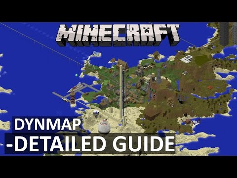 DYNMAP (Minecraft Plugin Tutorial) A 3D View of Your World