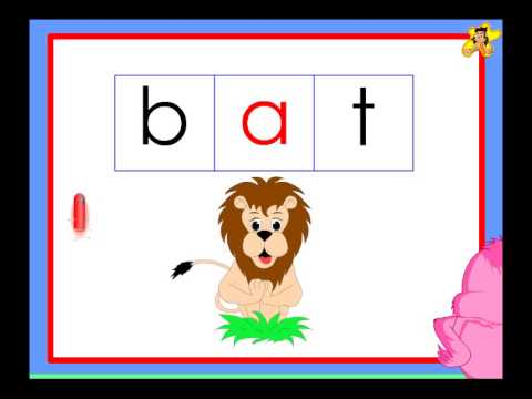 Kindergarten Phonics Words With The Short Vowel A Sound Youtube