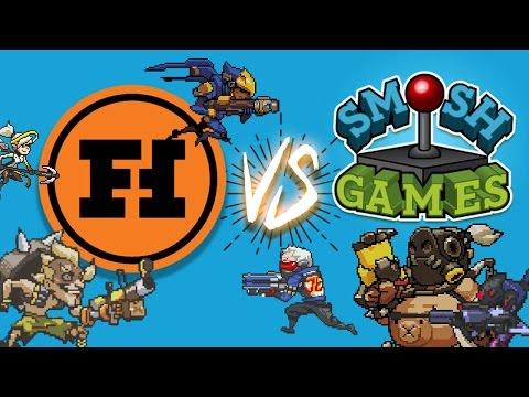 FUNHAUS VS SMOSH GAMES - Overwatch Gameplay