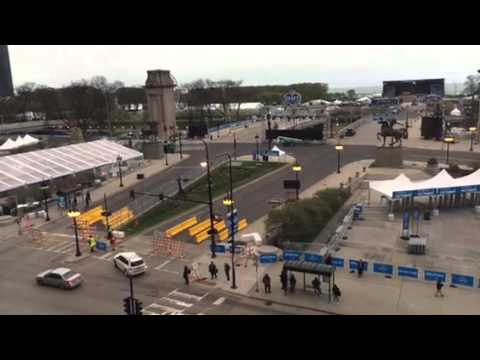 NFL Draft Town From Congress Plaza Hotel Chicago #NFLDraft