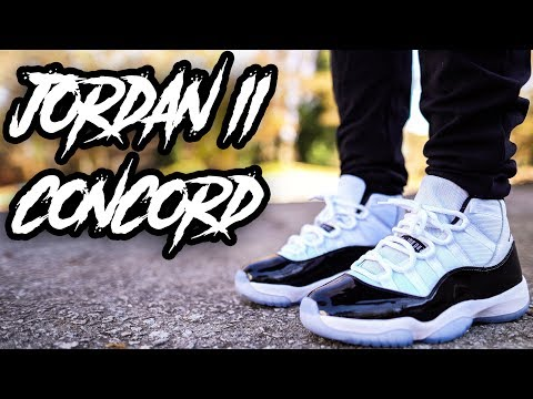 2018 JORDAN 11 CONCORD REVIEW AND ON FOOT  IN 4K !!!