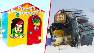 Luka Makes Brandnew Dog House ❤️ LIVE Cartoons Stop Motion Animation