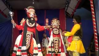 Yakshagana -- KrishnArjuna - 3 - Kateel as Daruka - Hasya