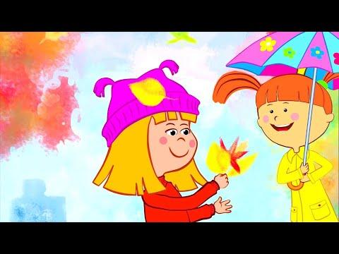 🍁 ОСЕНЬ 🍁 Песни и мультики про осень, школу и времена года для детей - Видео онлайн