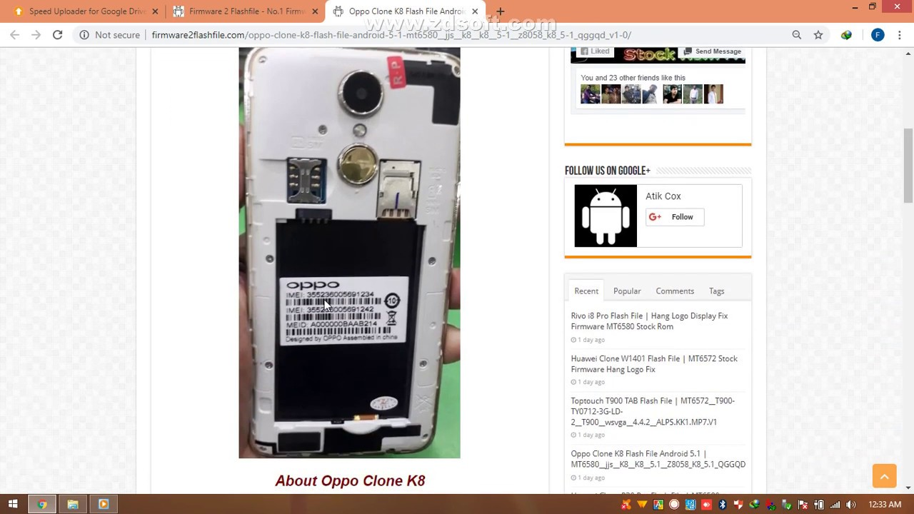 Oppo Clone K8 Flash File Hang On Logo Lcd Fixed Firmware Download Link