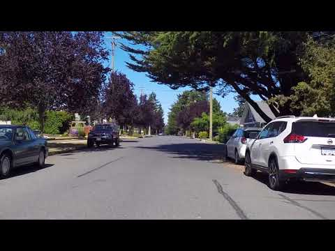 Driving in Sidney BC Canada - Vancouver Island Coastal Town - Saanich Peninsula