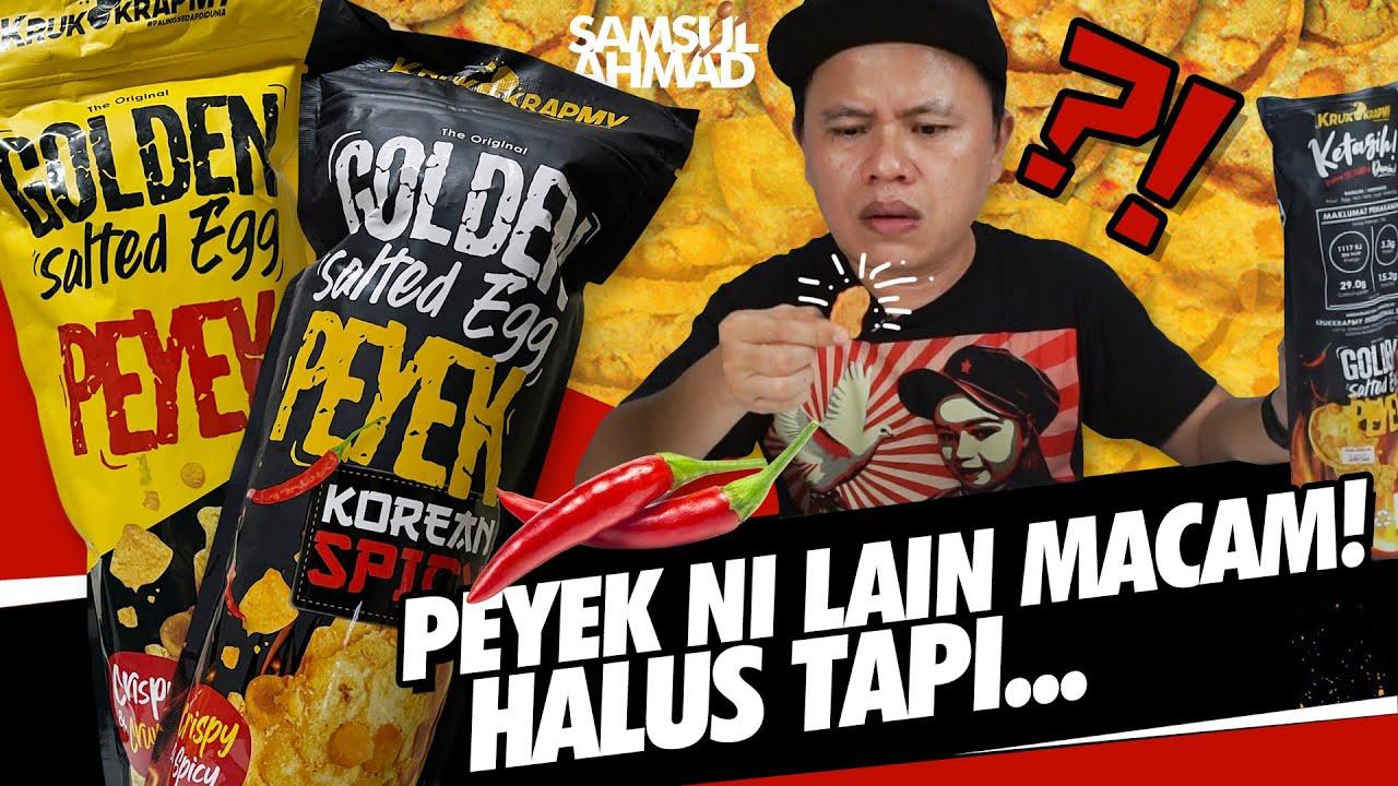 Download Golden Salted Egg Peyek Original & Korean Spicy, Lain Dari Yang Lain!