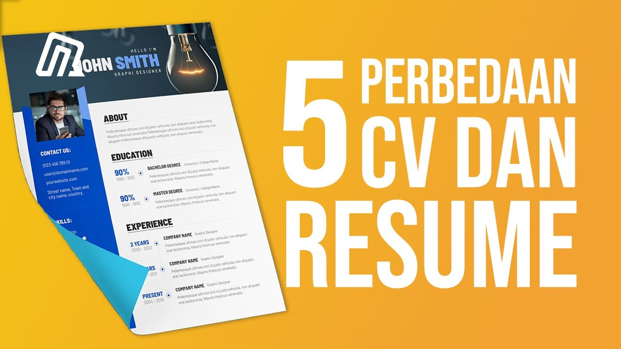 5 Perbedaan Cv Dan Resume