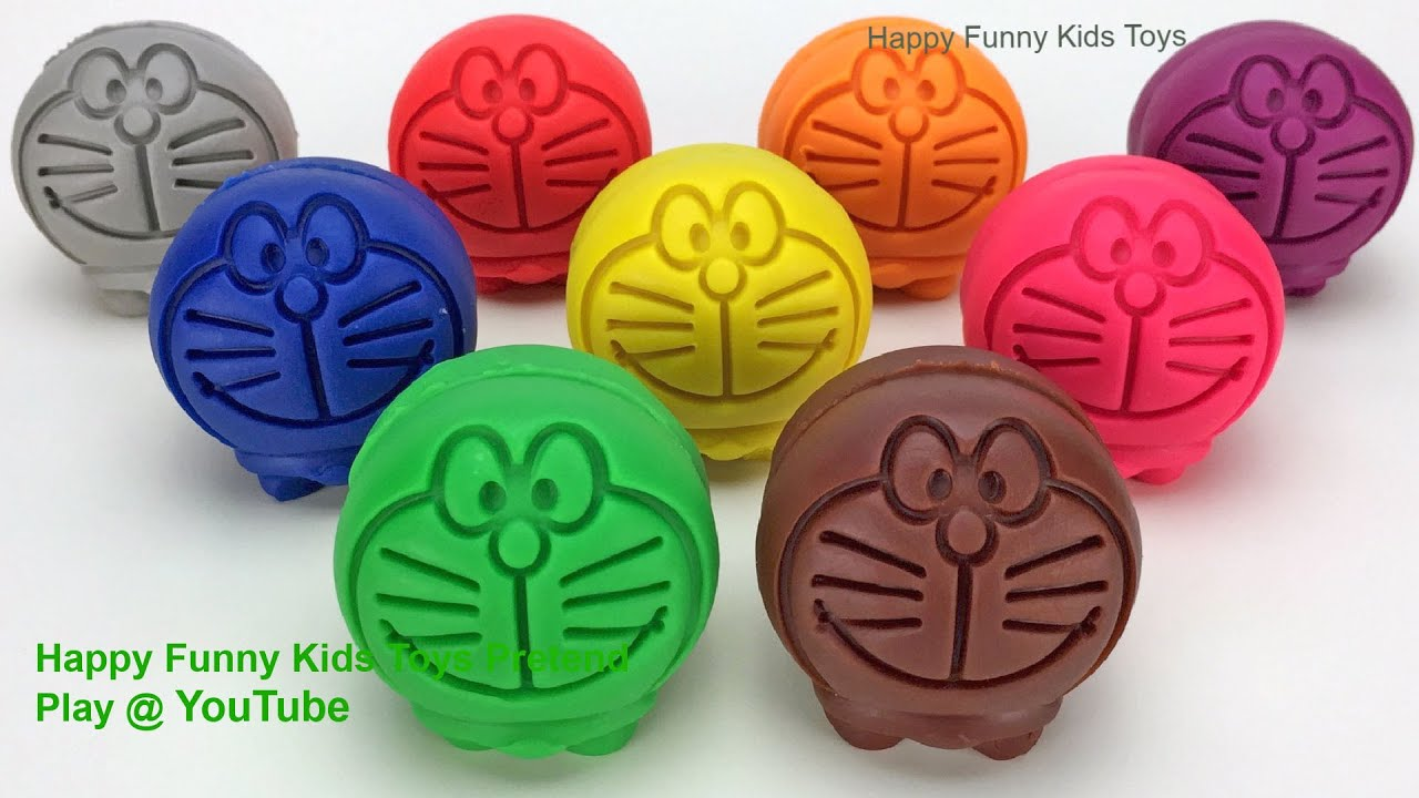 Learn Counting Numbers Learn Colors with Play Doh Doraemon | Cookie Molds Surprise Toys