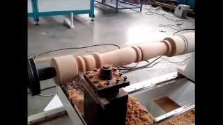 Wood Turning Machine Making Chair Leg Working Video