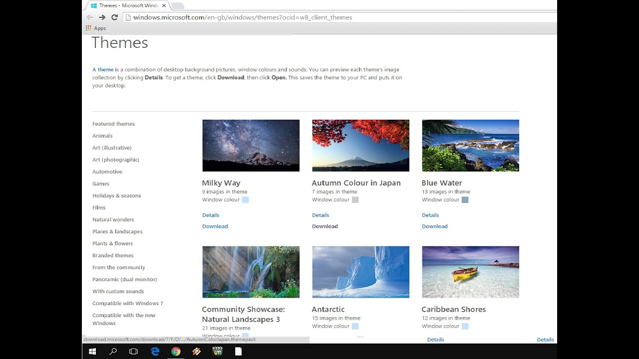 how to download themes for windows 10 free easy safe youtube