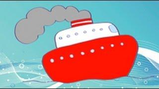 Dibujos de transportes para niños. Cómo dibujar un barco