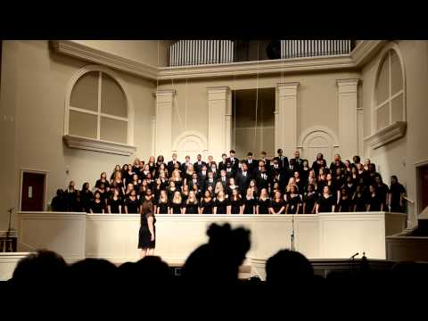 TCHS Combined Choirs singing Praise His Holy Name by Keith Hampton
