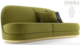 "№146. Sofa modeling "" Opera contemporary kathy "" Autodesk 3ds Max & marvelous designer"