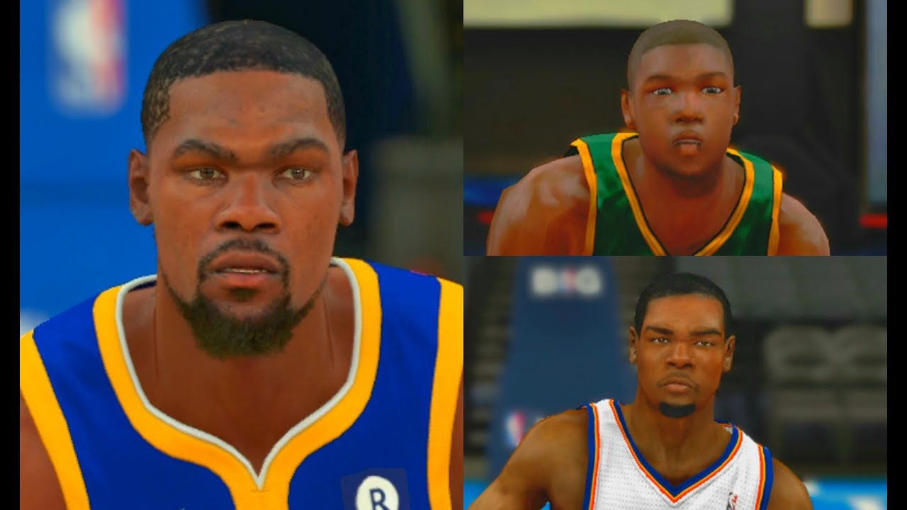 1416a602444d Kevin Durant from NBA 2K8 to NBA 2K18!  GSW  PS4 - YouTube