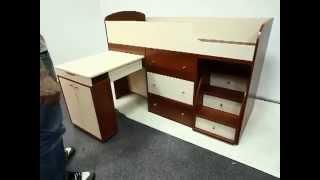 видео Кровать чердак для взрослых на заказ купить в СПб