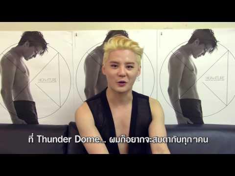 2016 XIA 5th ASIA TOUR Concert in Bangkok Xignature Greeting Thai Fan