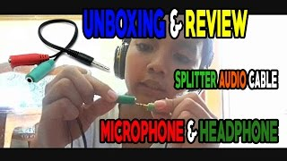 UNBOXING & REVIEW SPLITTER AUDIO CABLE ( BAHASA INDONESIA )