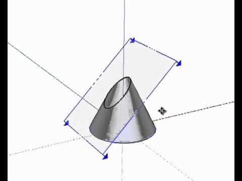 Secciones del cono sketchup youtube - Como hacer un cono ...