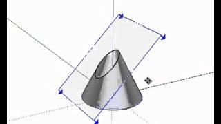 Secciones del cono SketchUp