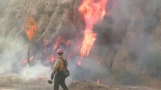 """""""Station Fire"""" Brush Fire - Compilation - LA County - August 28-30, 2009"""