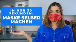 Maske in nur 30 Sekunden selber machen - ohne Nähen oder Kleben / #maskeauf