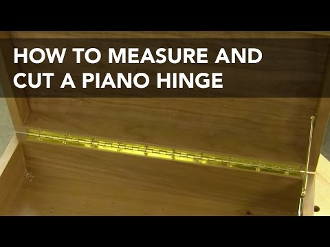How to Lay Out and Cut a Piano Hinge