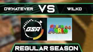 Dwhatever vs Wilko | Regular Season | GSA SM64 70 Star Speedrun League Season 3