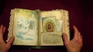 Vintage Christmas journal - Tresors De Luxe DT project