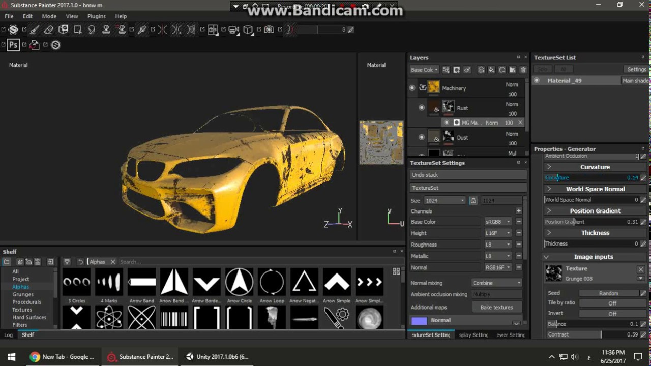 Excellent Substance Painter 2017 To Unity Texturing BMW M2 Coupe