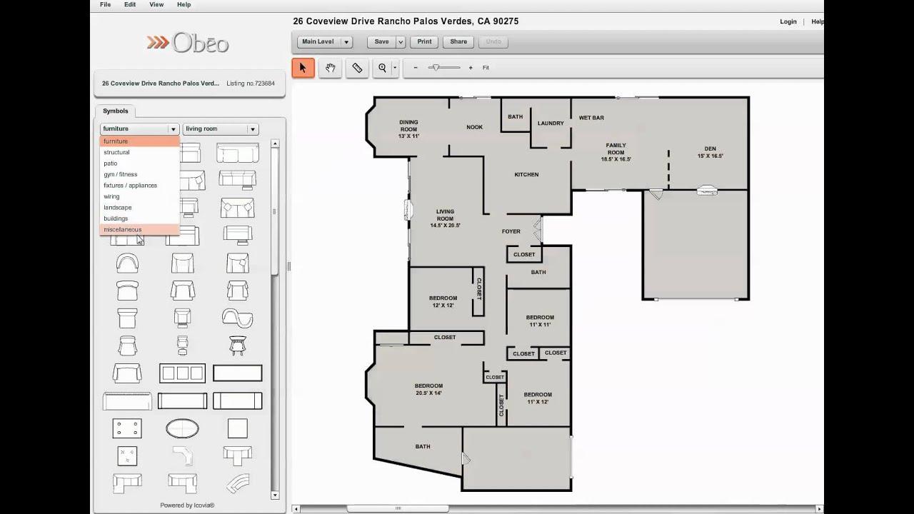 ocean view homes in rancho palos verdes interactive floor plan - Ocean View Homes Floor Plans