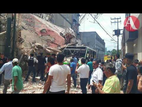 Reportan daños en edificios de Morelos tras terremoto de este 19 de septiembre 2017